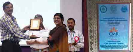 Prize distribution @ ICMRA, Hyderabad